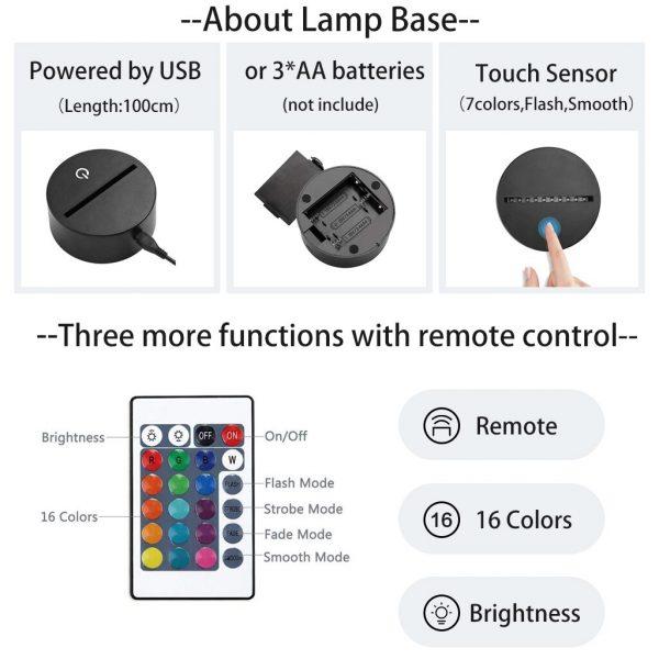 3DLed Night Light Lamp Izuku Midoriya Figure Kids Bedroom Nightlight Led Touch Sensor Room Lighting Anime 5 - BNHA Store