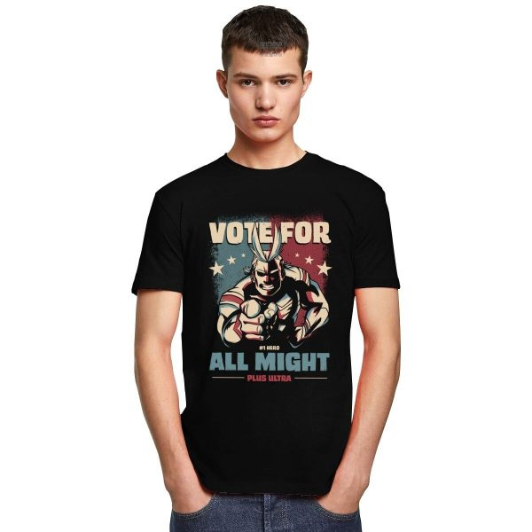 Boku No Hero Academia Plus Ultra T Shirt Men Cotton T shirt Short Sleeve All Might 4 - BNHA Store