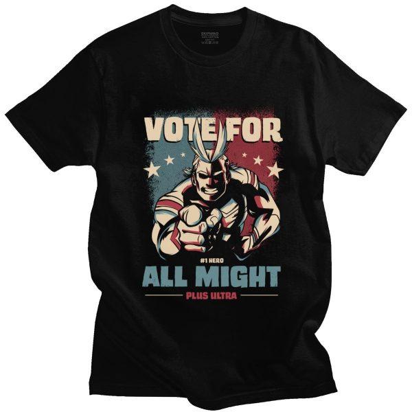Boku No Hero Academia Plus Ultra T Shirt Men Cotton T shirt Short Sleeve All Might - BNHA Store