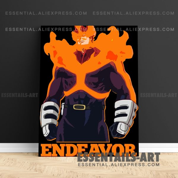 Enji Todoroki ENDEAVOR FLAME HERO BNHA Anime Poster Canvas Wall Art Painting Decor Pictures Bedroom Home - BNHA Store
