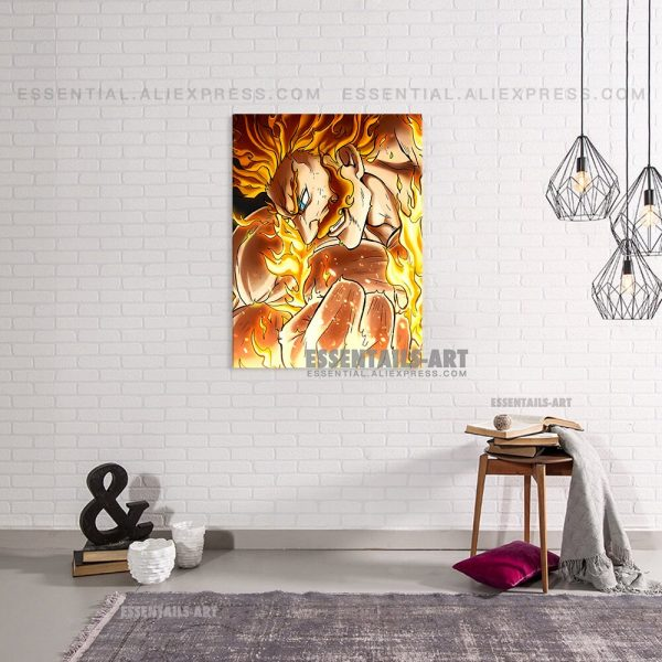Enji Todoroki Endeavor BNHA MHA Poster Canvas Wall Art Painting Decor Pictures Bedroom Study Living Room 1 - BNHA Store