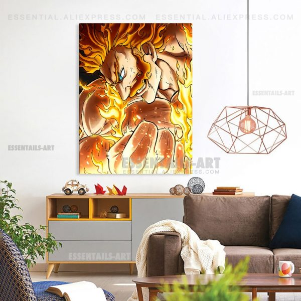 Enji Todoroki Endeavor BNHA MHA Poster Canvas Wall Art Painting Decor Pictures Bedroom Study Living Room 2 - BNHA Store