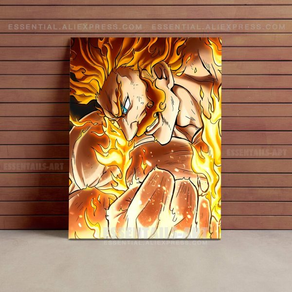 Enji Todoroki Endeavor BNHA MHA Poster Canvas Wall Art Painting Decor Pictures Bedroom Study Living Room 4 - BNHA Store