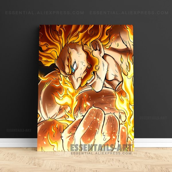 Enji Todoroki Endeavor BNHA MHA Poster Canvas Wall Art Painting Decor Pictures Bedroom Study Living Room - BNHA Store