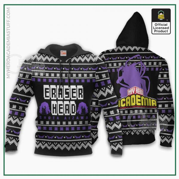 aizawa ugly christmas sweater eraser head my hero academia shirt gearanime 3 - BNHA Store