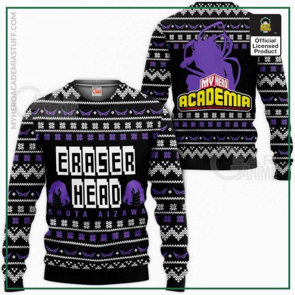aizawa ugly christmas sweater eraser head my hero academia shirt gearanime - BNHA Store