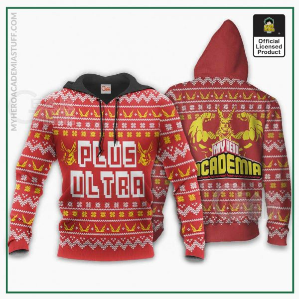 all might plus ultra ugly christmas sweater my hero academia anime xmas gift gearanime 3 - BNHA Store