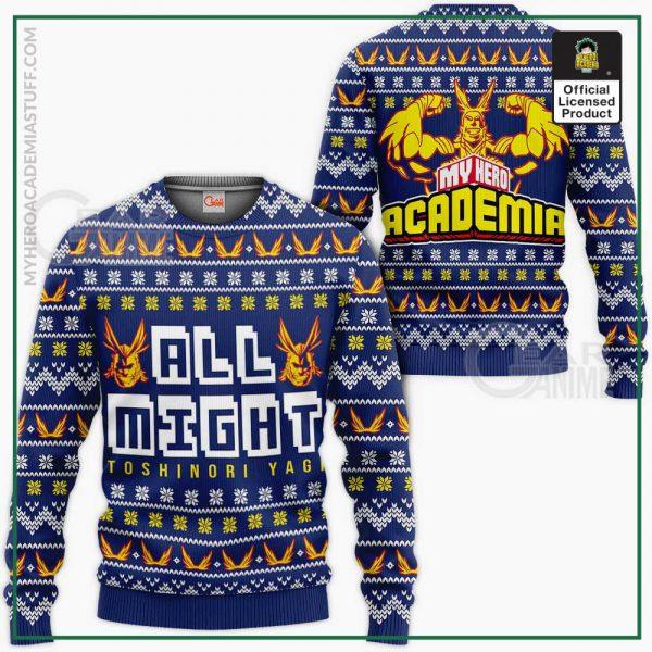 all might ugly christmas sweater my hero academia anime xmas shirt gearanime 684542e4 3518 4561 8781 2374c47ce3f7 - BNHA Store