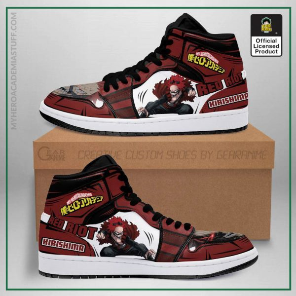 eijiro red riot jordan sneakers custom my hero academia anime shoes mn05 gearanime - BNHA Store