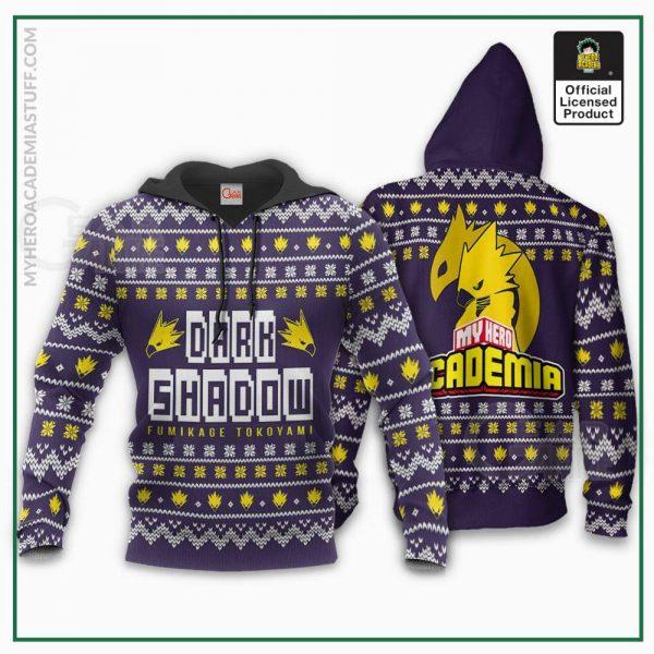 fumikage tokoyami ugly christmas sweater dark shadow my hero academia gearanime 3 - BNHA Store