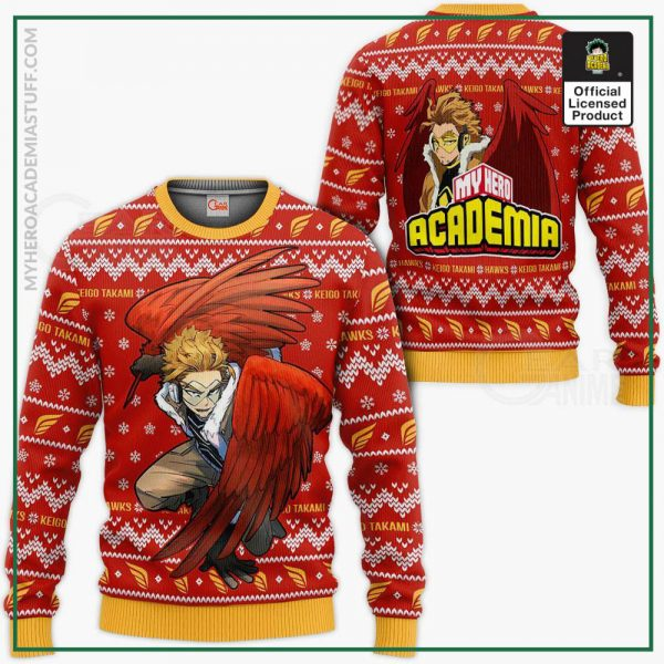 keigo takami hawks ugly christmas sweater my hero academia xmas va10 gearanime - BNHA Store