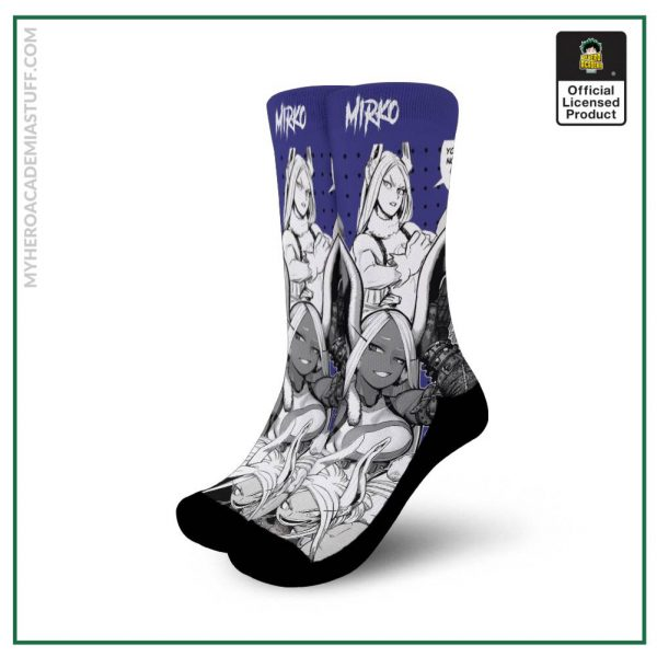 mirko socks my hero academia anime socks mixed manga gearanime - BNHA Store