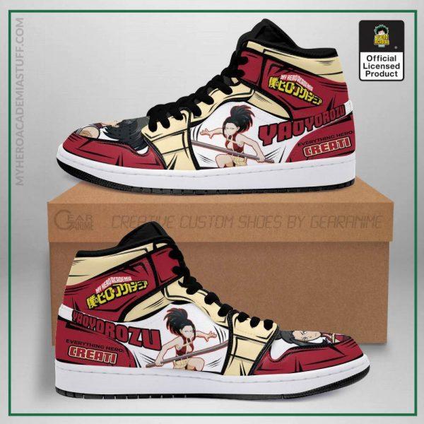 momo jordan sneakers custom my hero academia anime shoes mn05 gearanime - BNHA Store