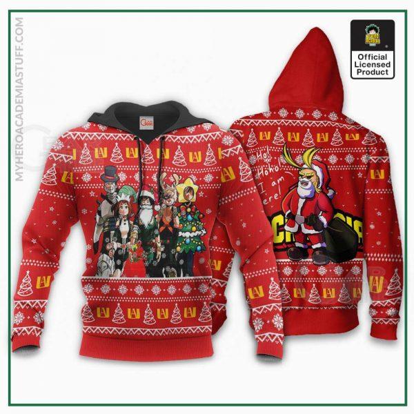 my hero academia ugly christmas sweater santa anime xmas gift va09 gearanime 3 - BNHA Store
