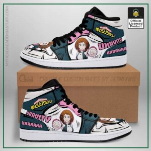 ochaco uraraka jordan sneakers uravity my hero academia anime shoes mn05 gearanime - BNHA Store
