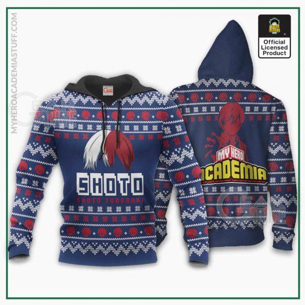 shoto todoroki ugly christmas sweater my hero academia anime shirt gearanime 3 - BNHA Store