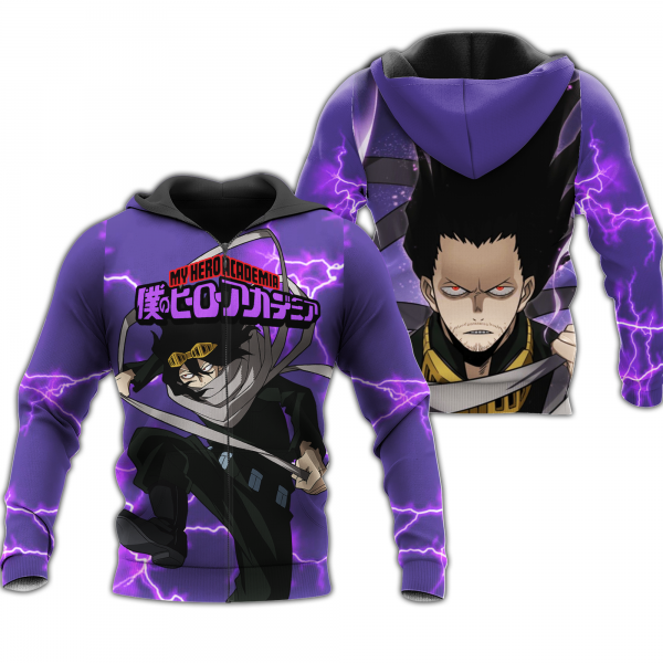 shouta aizawa zip hoodie my hero academia anime shirt fan gift ha06 gearanime - BNHA Store