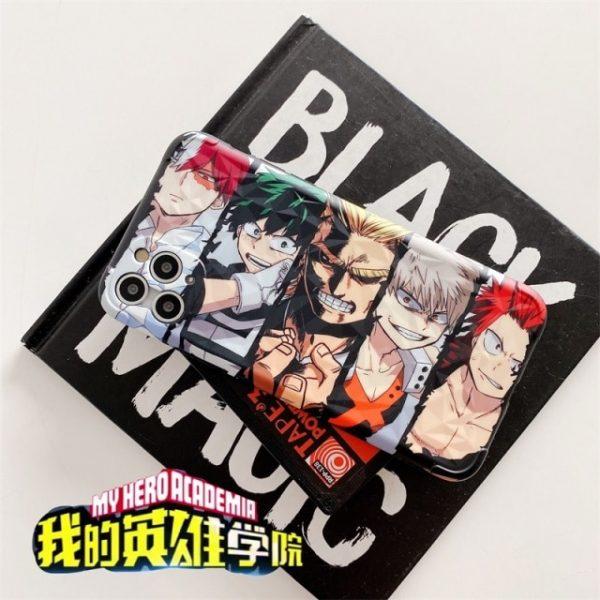 Cartoon My Hero Of The Academy Anime Todoroki Phone Case Cover For iPhone 8 7 - BNHA Store