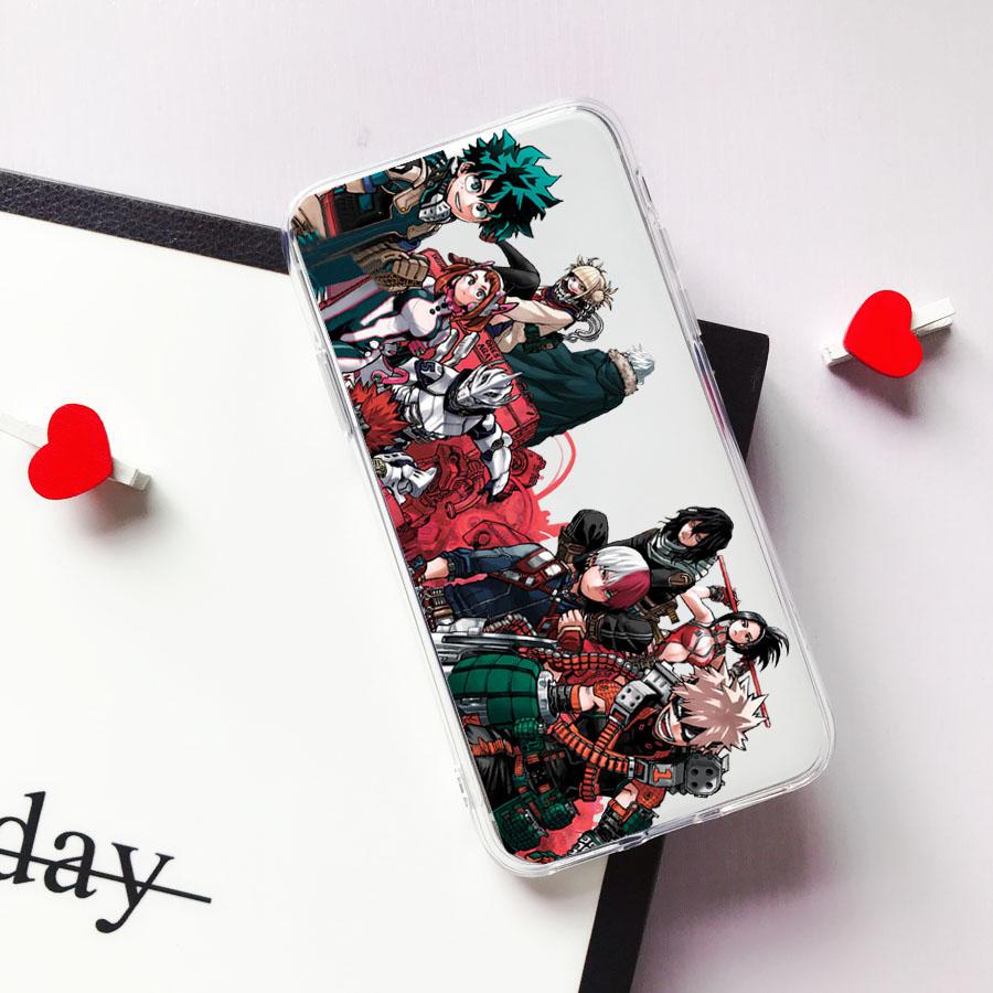 Anime My Hero Deku Bakugou Boku No Hero Academia Phone Case for Iphone 12 11 Pro 8 7 6 6S Plus X XS MAX XR SE 2020 Fundas Coque