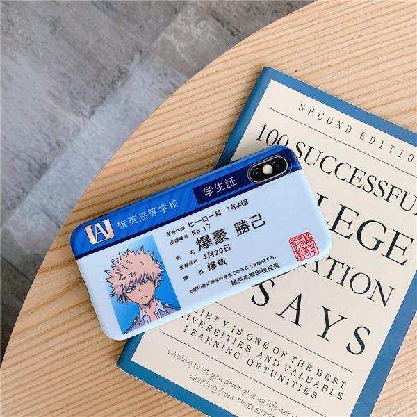 My Hero Academia Midoriya Katsuki Shoto Anime Phone Case for iPhone 12 Mini 11 X XS Max Xr 7 8 Plus Student card protect Cover
